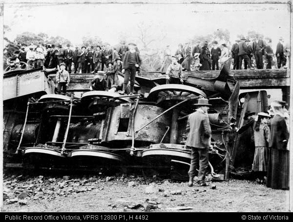 Railway accident at Kurkurac Creek bridge - 4 November 1907