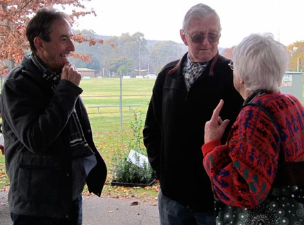 Garry talks to Ian and Marion