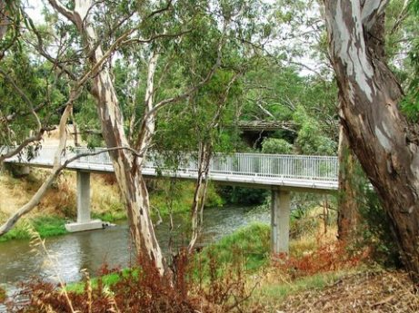 O'Keefe Rail Trail bridge over Campapse River Axedale