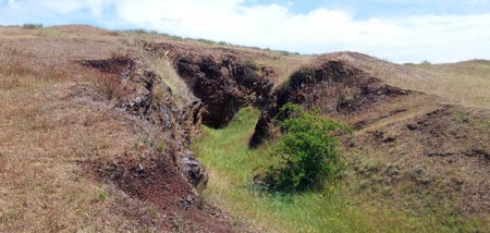 Remains of entrance to Bald Hill mine near Heathcote