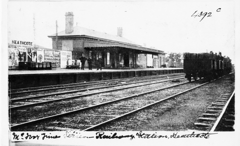 Heathcote Railway Station. 1907