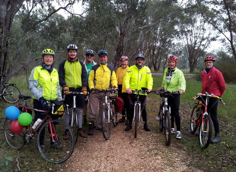 Janet and rider team on the O'Keefe Rail Trail, enjoying the natural envirnoment.