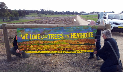 Sign of the times - 2014 National Tree Day in Heathcote.