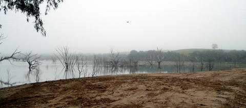 Winter mist, Lake Eppalock. Photo. Ken Hanson