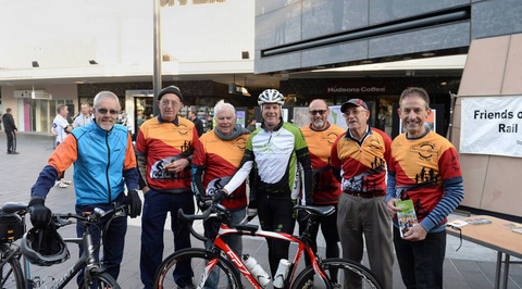 Friends of the Bendigo-Kilmore Rail Trail Bryan Lewis, Ken Hanson, Colin Campbell, Geoff O'Sullivan, Steve Boswell, Lindsay Clay and Garry Long. Picture: JIM ALDERSEY