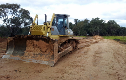 O'Keefe Rail Trail's Lake Eppalock Causeway under construction