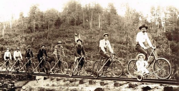 A look back into history, riding the rail (trail?)!