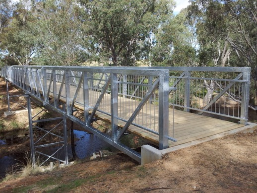 The third Axe Creek bridge, built in 2012. Photo: Garry Long