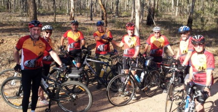 Heathcote Community Games-passing cup, road to rail trail riders