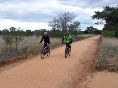Riders on the new O'Keefe Rail Trail. Photo Garry Long