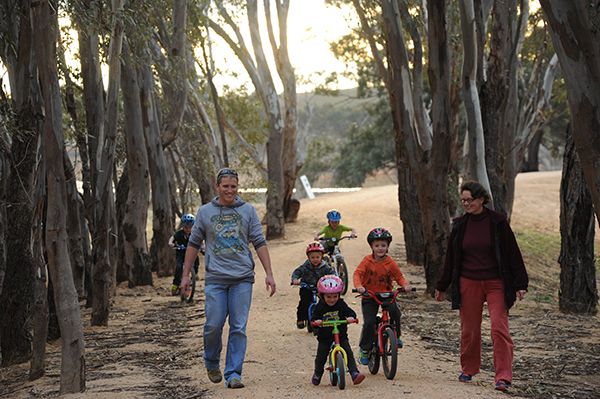 O'Keefe Rail Trail Users - Lake Eppalock. Photo: from City of Greater Bendigo Council