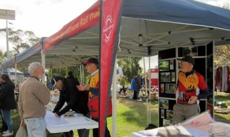 Informing the Wallan community May 2015. Photo: Pauline Duff
