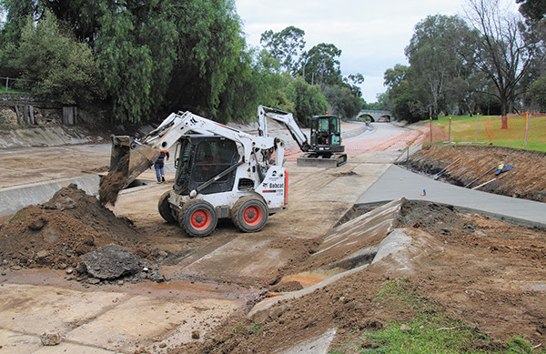Road underpass connection works near completion. Photo: City of Greater Bendigo