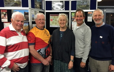 Colin Campbell, Les Lewis, guest speaker Linda Beilharz, Garry Long, Mal Ward