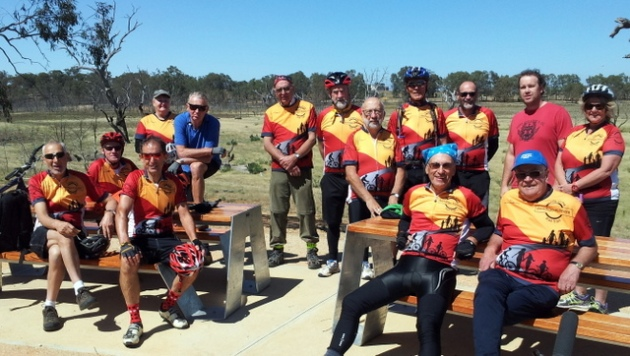 Happy New Year from some of the Friends of the Bendigo-Kilmore Rail Trail