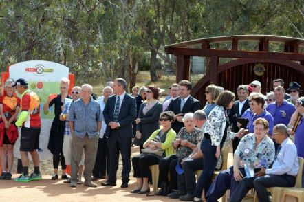 Attendees at O'Keefe Rail Trail Offical Opening 21 Dec 2015. Photo: Les Lewis