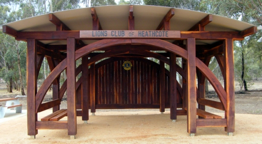 The Lions Club of Heathcote's O'Keefe Rail Trail shelter, 3 Jan 2016. Photo: Daryl Dedman