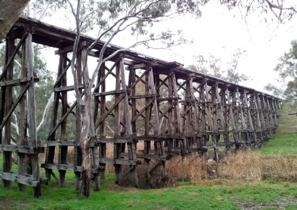 The former railway bridge, Mollison Creek, Pyalong. Photo: Garry Long