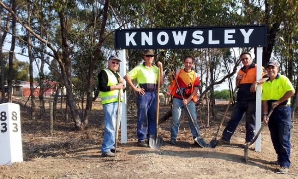 Knowsley is highlighted on the O'Keefe Rail Trail. 13 Apr 2016. Photo: Garry Long