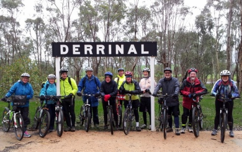Derrinal Station Rest Stop, with riders ready! 10 July 2016. Photo: Garry Long