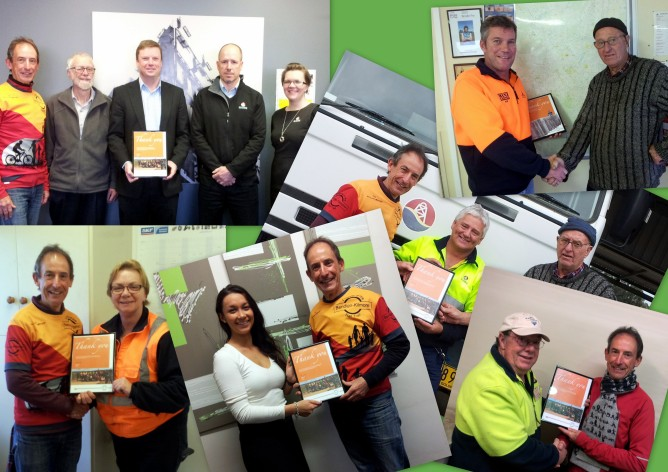 Friends of the Bendigo-Kilmore Rail Trail 'Thank You' presentations. June-July 2016