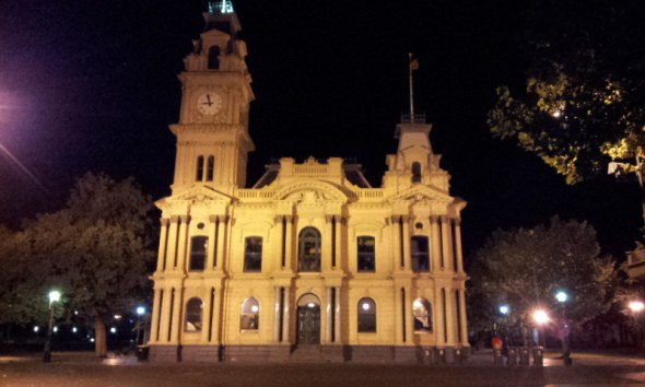 Bendigo Town Hall. 6 Mar 2017. Photo: G.Long