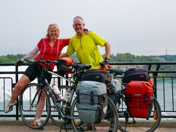 Margie Joyce and Neil McKinnon, cycle touring in Canada