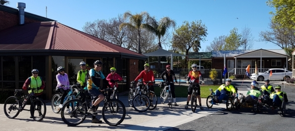 Friends of the Bendigo-Kilmore Rail Trail members in Albury NSW